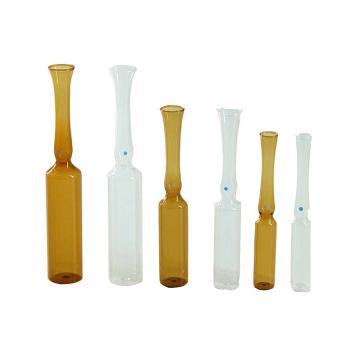中硼硅玻璃曲颈易折安瓿瓶,10ml,棕色,576个/箱