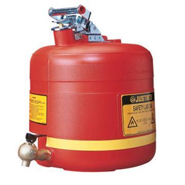杰斯瑞特JUSTRITE 5加侖(19升)聚乙烯安全罐,帶自閉龍頭(?。?,14545Z