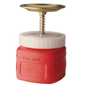 杰斯瑞特JUSTRITE 1升非金属制活塞罐,黄铜活塞,14018Z