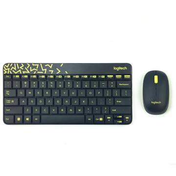 羅技(Logitech)無線鍵鼠套裝, MK240 Nano 無線鼠標無線鍵盤套裝(黑色) 單位:個