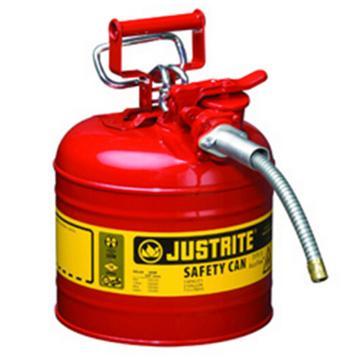 """杰斯瑞特JUSTRITE Ⅱ型鋼制安全罐,2加侖/7.5升,帶5/8""""金屬管,7220120Z"""