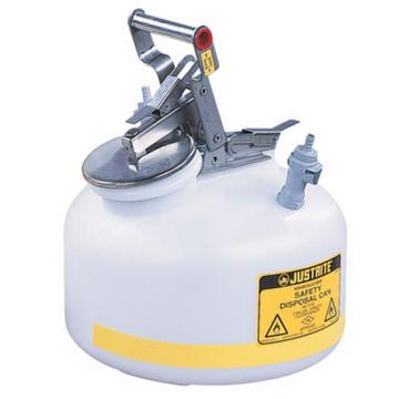 杰斯瑞特JUSTRITE HPLC安全處置罐,2加侖/7.5升,聚丙烯1號2號接頭,PP12752