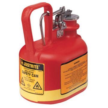 杰斯瑞特JUSTRITE Ⅰ型椭圆形聚乙烯安全罐,0.5加仑/2升,14065Z