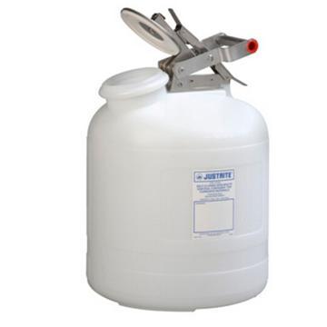 杰斯瑞特JUSTRITE 自动关闭式聚乙烯废物罐(配有不锈钢部件),5加仑/19升,12765