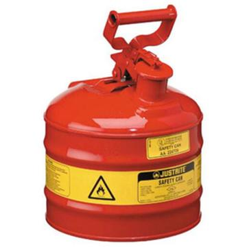 JUSTRITE/杰斯瑞特 Ⅰ型钢制安全罐-红色(悬摆扳柄),5加仑/19升,7150100Z