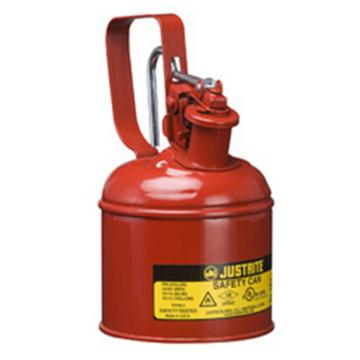 杰斯瑞特JUSTRITE Ⅰ型钢制安全罐-红色(释放扳柄),0.25加仑/1升,10101Z