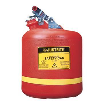 JUSTRITE/杰斯瑞特 Ⅰ型圆形聚乙烯安全罐,5加仑/19升,14561