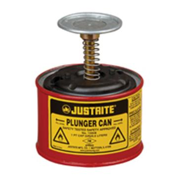 JUSTRITE/杰斯瑞特 钢制盛漏式活塞罐,0.13加仑/0.5升,10008