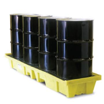ENPAC 4桶直线型盛漏托盘,带排水,5102-YE-D