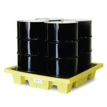 ENPAC 4桶浅式盛漏托盘,带排水,5400-YE-D
