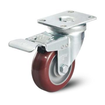 科顺 75聚氨酯双刹掣脚轮,轴承 特尔灵,A2-3346-91BRK4