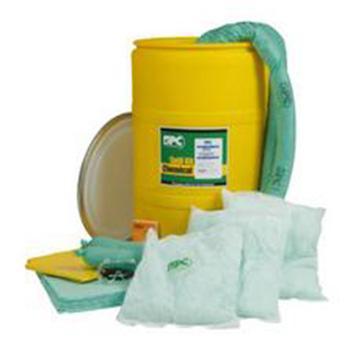 SPC 55加仑吸油型泄漏处理套件桶,吸附量208升/套,SKO-55
