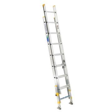 稳耐 2节延伸梯(带平衡器),踏台数:16,额定载荷(KG):102,工作高度(米):3.1,D1716-2EQ