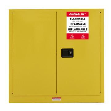 成霖 黄色易燃液体安全柜,30加仑/114升,双门/手动,CL803000