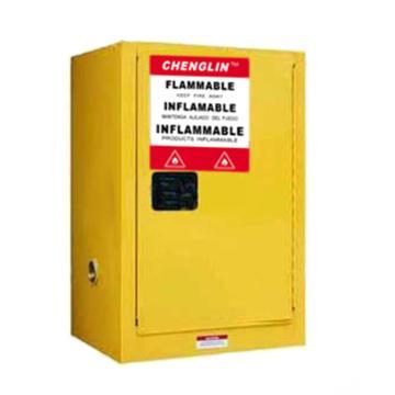 成霖 黄色易燃液体安全柜,4加仑/15升,单门/手动,CL800400