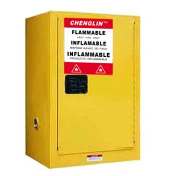成霖 黄色易燃液体安全柜,12加仑/45升,单门/手动,CL801200