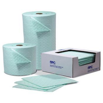 SPC 化学品吸附垫,38cm×48cm,吸附量77升,100片/箱,UN1719