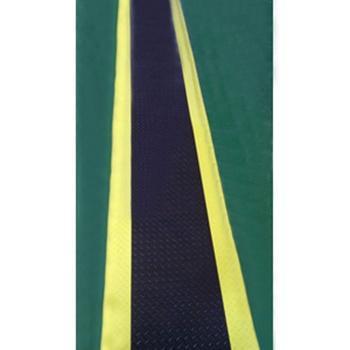 防静电抗疲劳地垫,3层PVC材质 900mm*30m*15mm(超长)黑+黄边 单位:卷