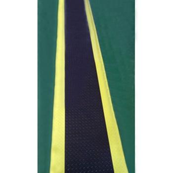 防静电抗疲劳地垫,3层PVC材质 600mm*1000mm*15mm黑+黄边 单位:卷