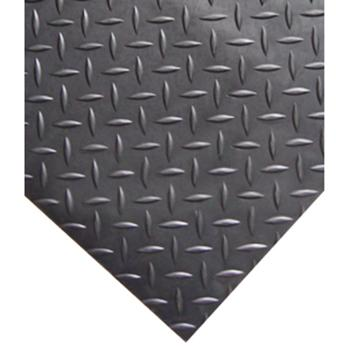 抗疲劳垫,耐用型铁板纹抗疲劳地垫,黑色,0.6m*1.5m*12mm(宽x长x厚)