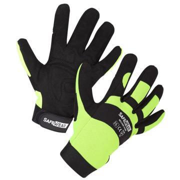 欧标35600Y款防护手套,12副/打,绿色,S