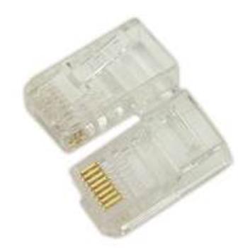 清华同方 RJ45水晶头(超5类数据,50唛镀金层)透明,CT-RJ45