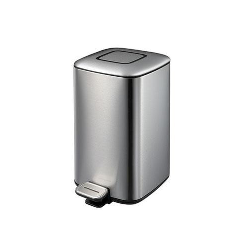 EKO静音不锈钢脚踏垃圾桶,6L 21x28.5x28.7cm