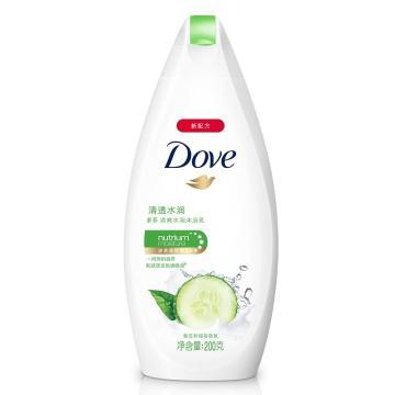 多芬(DOVE)清透水潤沐浴乳,200g 單位:瓶