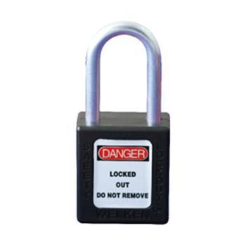 天津贝迪 ABS防火花铝锁梁工程塑料安全挂锁,红色,BD-8541-RED