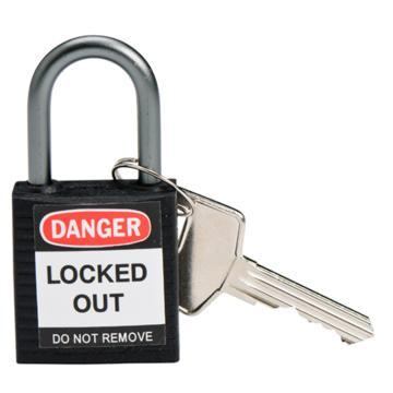 贝迪BRADY 绝缘安全挂锁,铝合金锁钩,黑色,143166