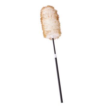 羊毛除塵撣,家具靜電吸塵撣 羊毛撣子可伸縮桿110CM