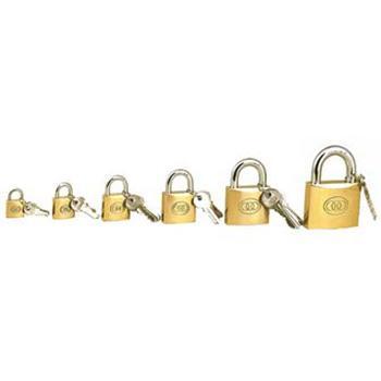黄铜挂锁-黄铜锁体,锁体50×43×13mm,锁梁Φ8.8mm,锁梁宽43mm,总高77mm,14755