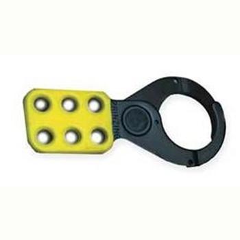 """贝迪BRADY PRINZING黄色钢制涂层锁钩,锁钩直径1""""/2.5cm,T218"""