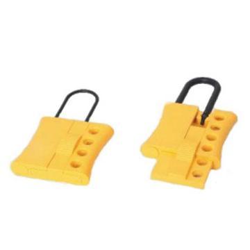 安赛瑞 绝缘安全锁钩,工程塑料材质,锁梁Ф6mm,黄色,61×108mm,14728