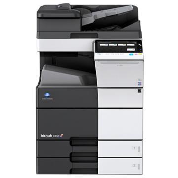 柯尼卡美能达C458  A3幅面彩色复印,网络打印扫描一体机,45页/分,立式四纸盒,传真,鞍式小册子装订100页 (不含无线网卡)