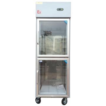 华东 防爆风冷不锈钢冷柜(展示柜)BLL-500g,容积500L,0~10度可调,内外304不锈钢,220V,防爆等级Exd mb IICT4 Gb