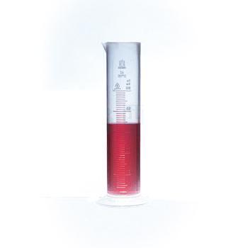刻度量筒,100: 2ml,低型,SAN,无色刻度,10个/包