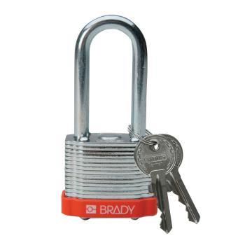 """贝迪BRADY 钢锁,2"""",5cm,锁钩,锁芯互异,橙色,99543"""