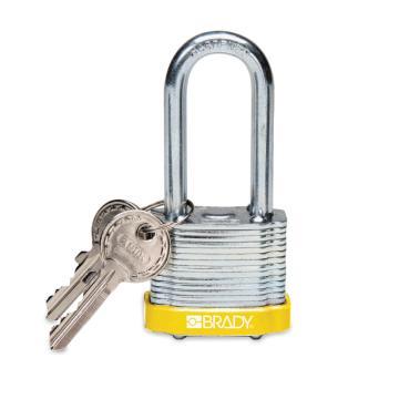"""贝迪BRADY 钢锁,2"""",5cm,锁钩,锁芯互异,黄色,99539"""