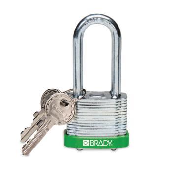 """贝迪BRADY 钢锁,2"""",5cm,锁钩,锁芯互异,绿色,99533"""
