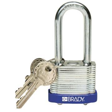 """贝迪BRADY 钢锁,2"""",5cm,锁钩,锁芯互异,蓝色,99528"""