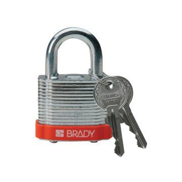 """贝迪BRADY 钢锁,0.75"""",1.9cm,锁钩,锁芯互异,橙色,99516"""
