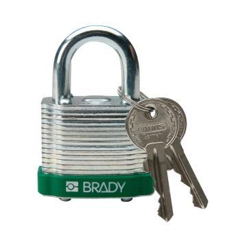 """贝迪BRADY 钢锁,0.75"""",1.9cm,锁钩,锁芯互异,绿色,99508"""