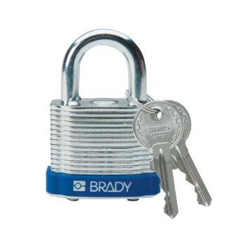 """贝迪BRADY 钢锁,0.75"""",1.9cm,锁钩,锁芯互异,蓝色,99504"""