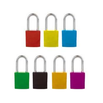 安赛瑞 安全挂锁(红),铝合金锁体,钢制锁梁,红色,锁梁Ф6mm,高38mm,14692