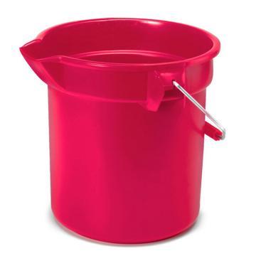 乐柏美Rubbermaid BRUTE 圆形桶,红色,13L 2614