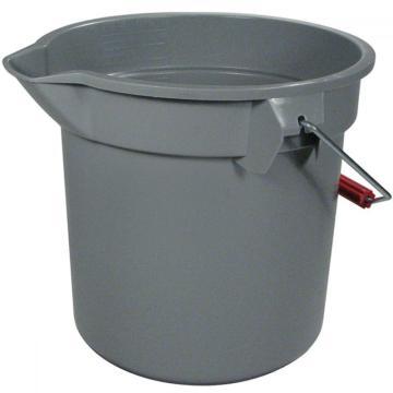 樂柏美Rubbermaid圓形桶,13.2L 261400,灰色