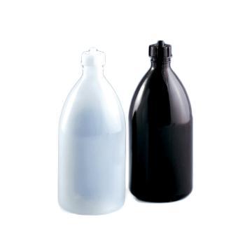BRAND 试剂瓶,适用于Schilling式自动回零滴定管,PE-LD材质,棕色,1000ml,含旋盖