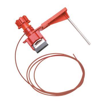 贝迪BRADY 小型万用门阀锁,配有2.4m尼龙缆绳和挡臂,51390