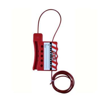 天津贝迪 绝缘钢缆锁具,钢缆直径3mm,长1.8m,BD-8421